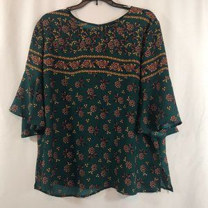 New Direction Woman's Top Boho Tunic Blouse Shirt